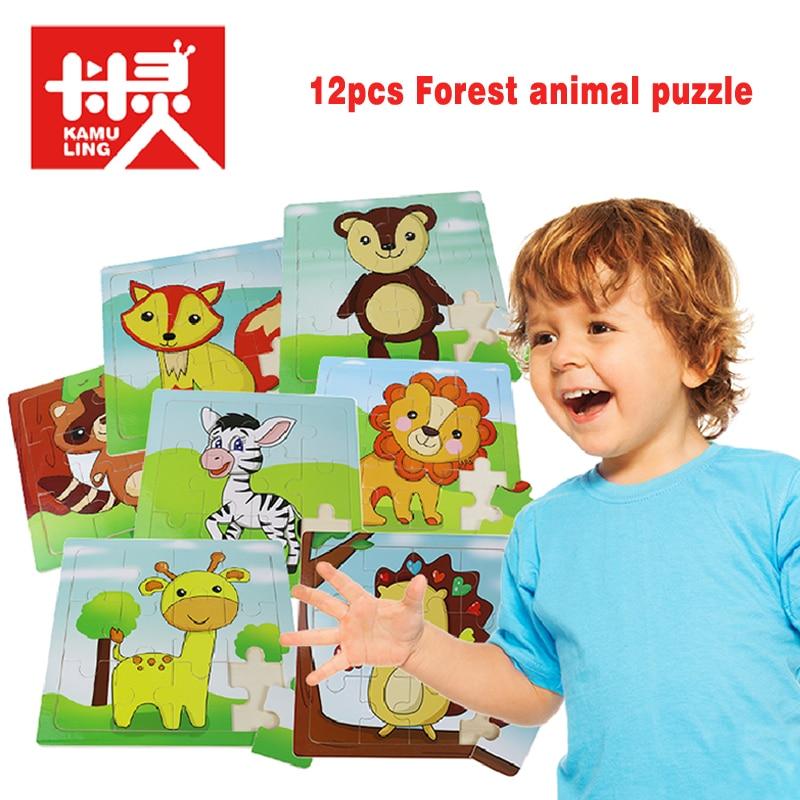 jirafas de madera Rompecabezas de niño Rompecabezas Rompecabezas de - Juegos y rompecabezas