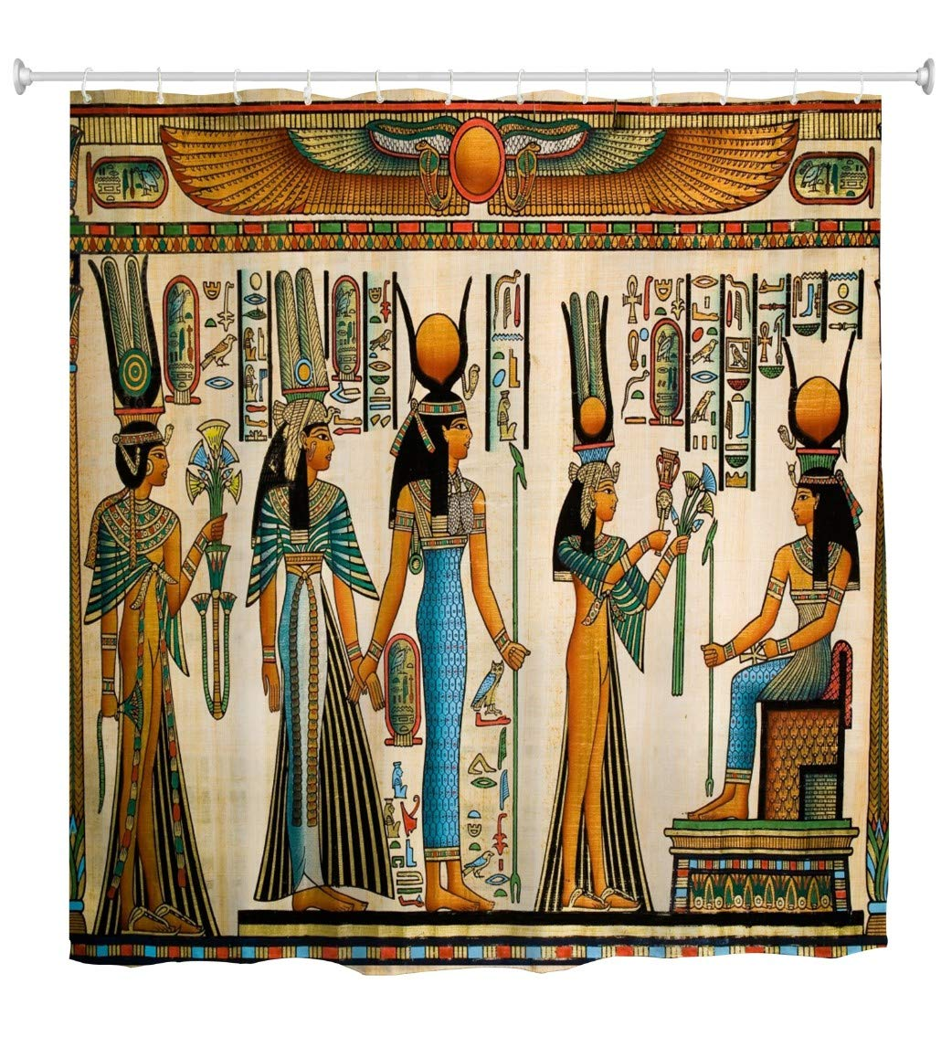 Shower Curtain Afro Ancient Egyptian Queen Shower Curtains ...