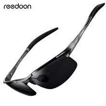 Reedoon óculos de sol polarizado hd, lentes com armação de metal, óculos de sol esportivo, polarizado, unissex, para pesca ao ar livre, r8177
