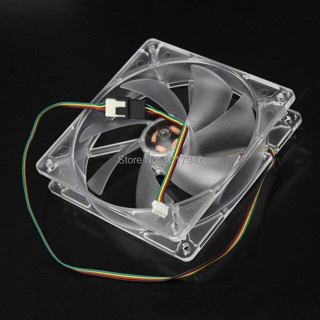 1 UNIDS Gdstime 12 V 4Pin 120mm 120x25mm Azul LED Pwm Del Ventilador de Temperatura Controlada Inteligente Ordenador Ventilador de caja