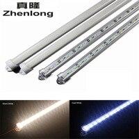 Zhenlong 7-8 Вт 50 см Жесткая Газа 5630 SMD LED light bar-Водонепроницаемый DC12V алюминиевый groove + PC чехол + жесткий светодиодный свет прокладки труб
