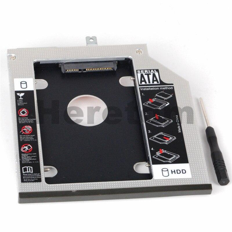 Heretom Laptop ODD DVD/CD-ROM Optibay 9.5mm SATA Second Hard Drive HDD SSD Tray Caddy For IBM Thinkpad T440p T540p W540