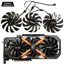 95mm T129215BU 12V 0.55A PLD10015B12H Quạt GIGAYTE AORUS GeForce GTX 1080 Ti GTX 1080Ti RTX2060 Xtreme Edition card màn hình Quạt