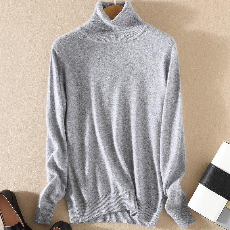 Cashmere Sweater Winter Womens Sweaters Fashion Autumn And Winter Womens Sweater And Pullovers Turtleneck Knitted Sweater WA649