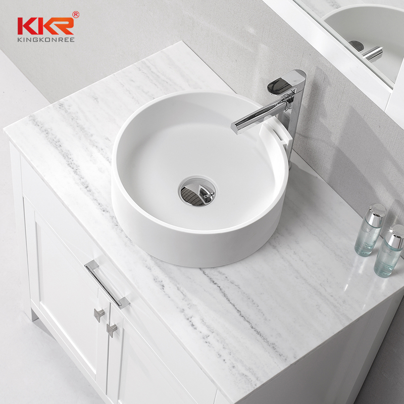 KKR solid surface material artificial stone countertop table top wash basin KKR 1051