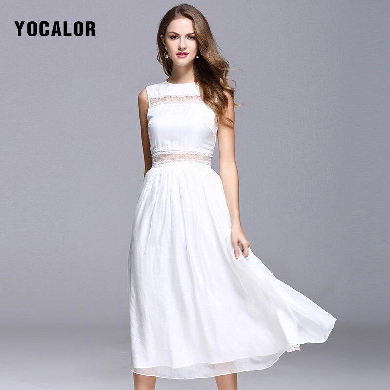 Элегантное платье из шелка