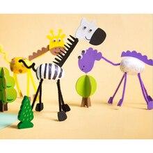 3D Животные Детский сад обучение раннее образование игрушки Монтессори обучающие средства игрушки для детей ремесла Дети DIY самодельные