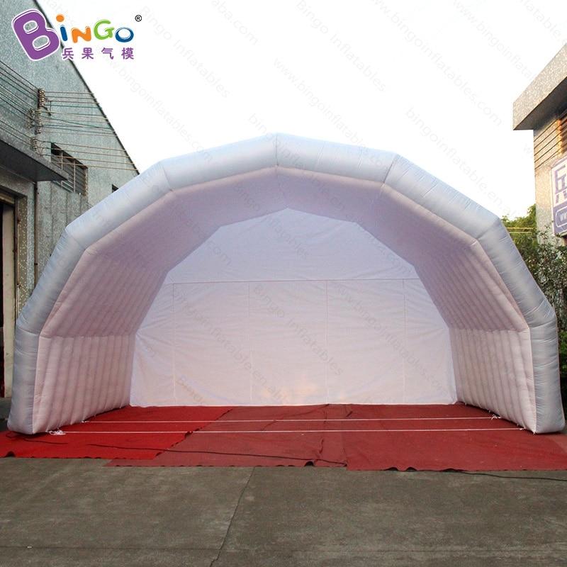 Venta caliente 2018 7x5x4 M tienda inflable de la cubierta de la etapa para el partido de la boda evnt toldo inflable personalizado tienda de campaña para conciertos de juguete