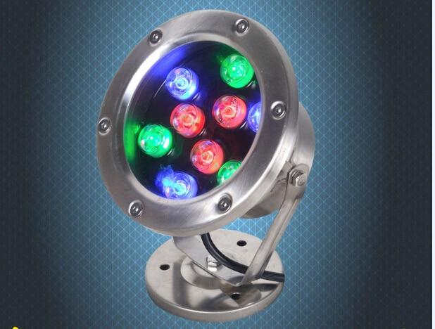 12w 15W 18W 24W 36W IP68 waterproof rgb led underwater lights swimming pool fountain aquarium fish tank pond lamp 12v/24v