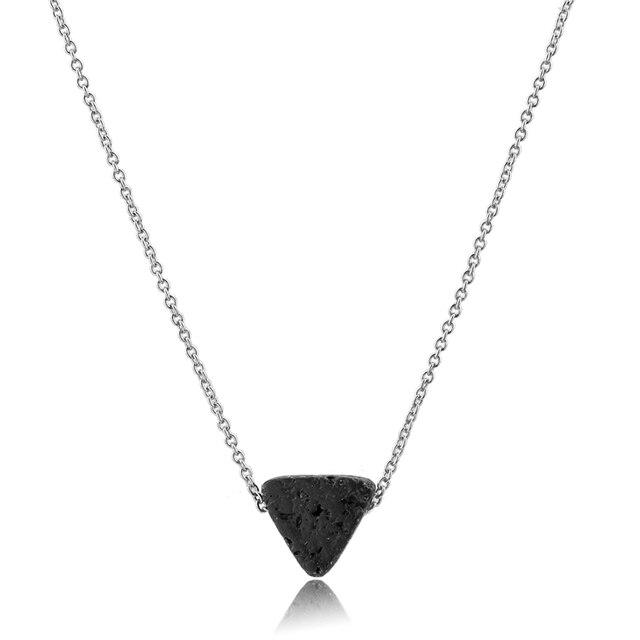 Toucheart треугольные лавовые бусины ожерелья и подвески Длинные