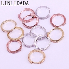 10 пар в комплекте, круглые, с цирконом круг обруч Модные женские серьги микро украшенное кубическими камнями Циркон простой серьги