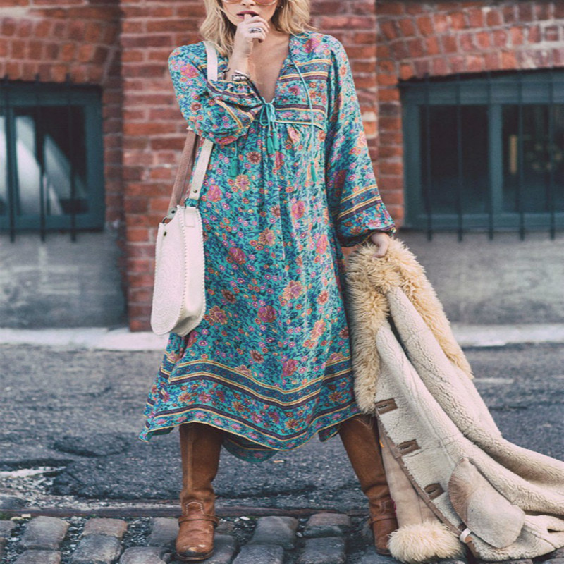 b104aba7d5 Bohemian Long Sleeve Maternity Dress – DTC-Shop