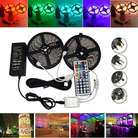Jiguoor 10M SMD 5050 Waterproof RGB 600 LED Strip Light Christmas Home Decoration+ IR Controller + Cable + Adapter DC12V