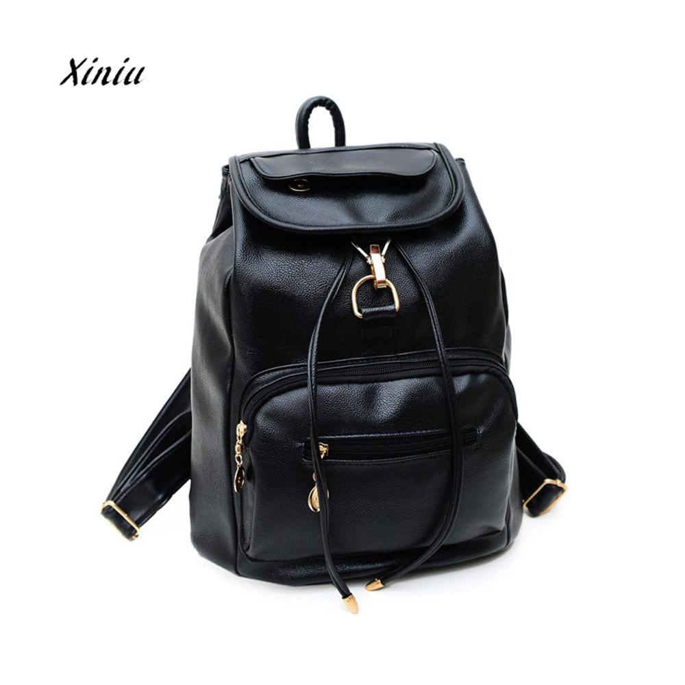 New Fashion Vintage Womens Backpack Travel Leather Rucksack Shoulder School Bag Large Capacity Women Backpacks Mochila