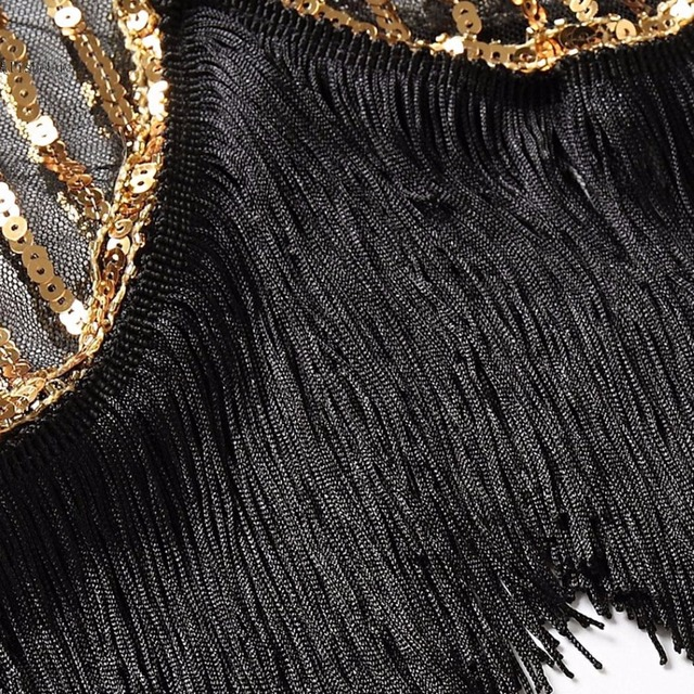 621e6b5f7a4 Top 2018 Retro 1920s Sequin Fringe Charleston Dress Gatsby Sexy Women Plus  Size Dresses Evening Party Shining Bling Tassel Dress