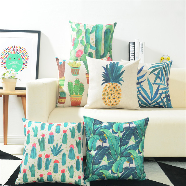 Decorative Cactus Pillowcase