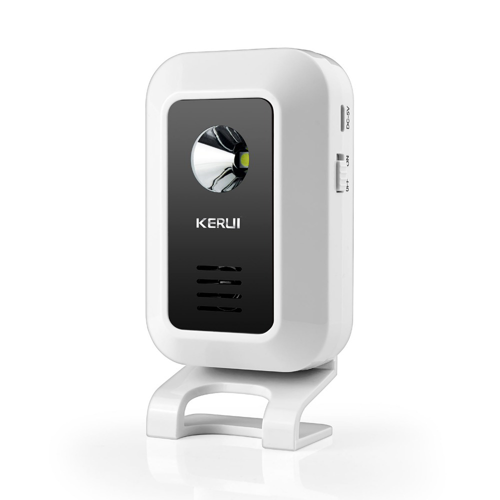 KERUI Wireless 433MHz  Curtain PIR Motion Wireless Strobe Light Welcome Chime Doorbell Burglar Alarm System