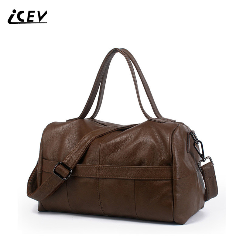 ICEV Fashion 100% Cowhide Designer Bags Handbags Women Famous Brands High Quality Genuine Leather Handbags Women Leather Handbag