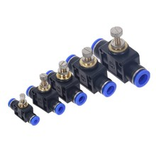 лучшая цена Air Flow Speed Control Valve Tube Water Hose Pneumatic Push In Fittings 4-12mm Pipe joint