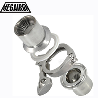 NEW Style2 Pcs 1 2 DN15 Sanitary Female Threaded Ferrule Pipe Fittings Tri Clamp Gasket Stainless