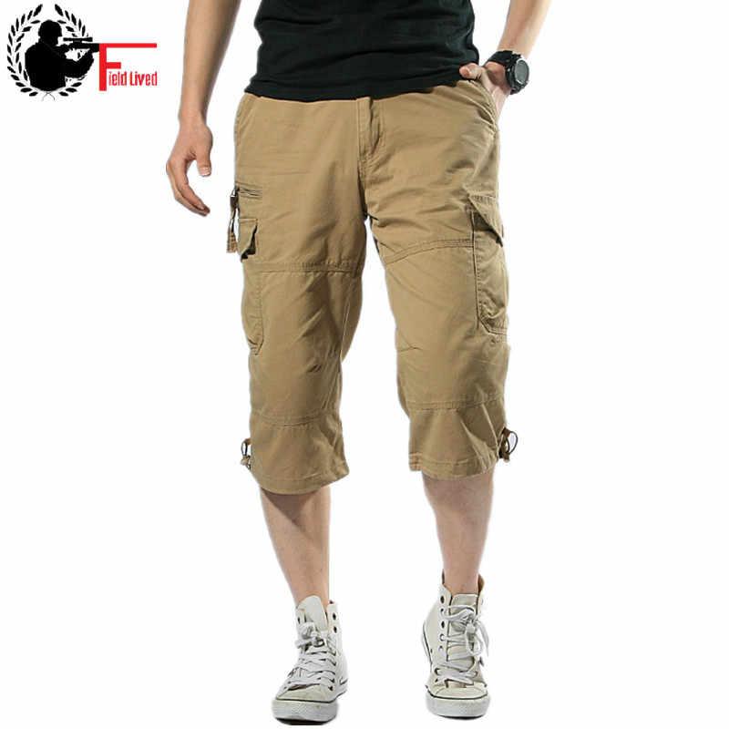 078682891d Mens Breeches Summer Short Baggy Multi Pocket Zipper Men Hot Male Khaki  Grey Plus Size Casual