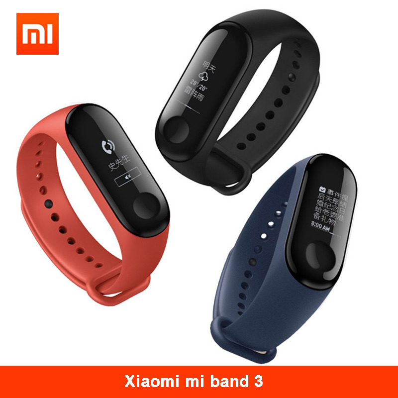 New Original Xiaomi Mi Band 3 Miband 3 Smart Bracelet -Black 0.78 inch OLED Instant Message Caller ID Weather Forecate ...
