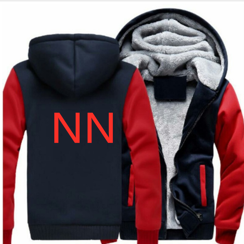 NN Mens Thicken Sweatshirts Spring and Autumn Clothes Zipper Hooded Men Fashion Hooded Fleece Cardigan Hoodies Casual Coats Tops