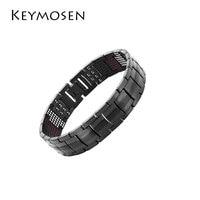 Fashion ornaments negative ion magnetic bracelet titanium steel men's bracelet energy bangles