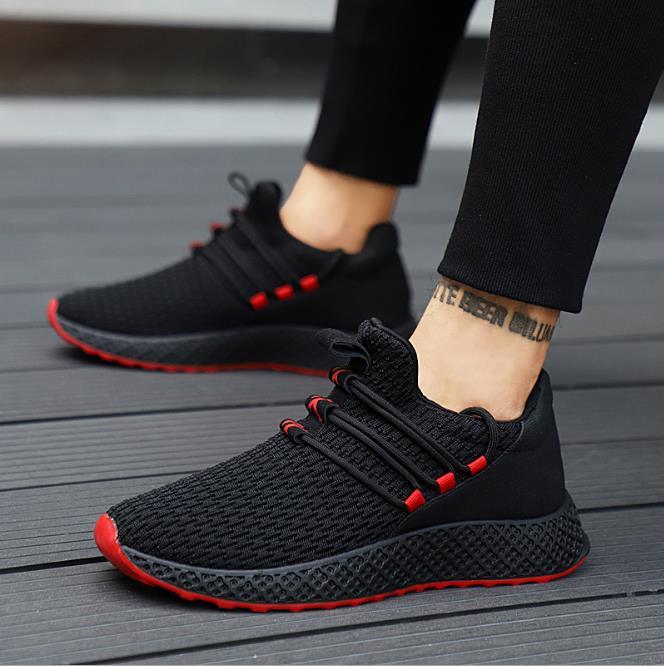 Hommes Modèles Respirant De gris Coréenne Automne Version Chaussures rouge Sport D'explosion Nouveaux 2018 Noir xIa4qwZ6Cx