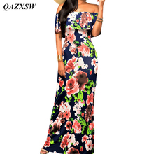 QAZXSW 2017 Wholesale Women Maxi Summer Dress