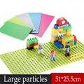 Nueva Wang 1 unids partículas Grandes Bloques de Construcción de Placa Base 32*16 Dots Tamaño 51*25 cm Placa Base juguetes Compatible Legoe ladrillos Duplo
