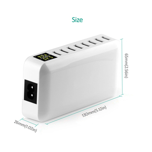 Image 4 - INGMAYA Multi Port USB Charger 5V8A LED Show Real Time Charging For iPhone iPad Mini Samsung Huawei Pixel Mi DV AC Power Adapter