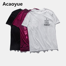 Acaoyue Mens T Shirt YZY SEASON 3 I Feel Like Paul Tee Short Sleeve O-neck T-Shirt Kanye West Letter Print Pablo Sportwear