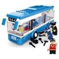 235 unids city bus montado bloques de construcción monocapa diy juguetes juguetes educativos para niños mejores niños regalos de navidad