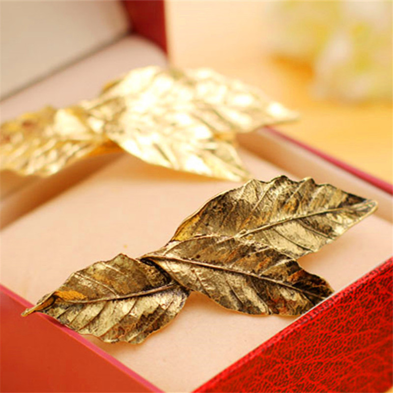 Back To Search Resultsjewelry & Accessories Korean Cute Gold Silver Bronze Leaf Girls Hair Clips Barrette Metal Hair Accessories For Women Accesorios Para El Pelo Headband Jewelry Sets & More