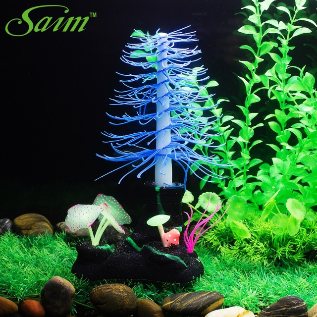 10 christmas tree coral aquarium fish tank ornaments plastic plants coral artificial aquarium decoration water - Christmas Aquarium Decorations