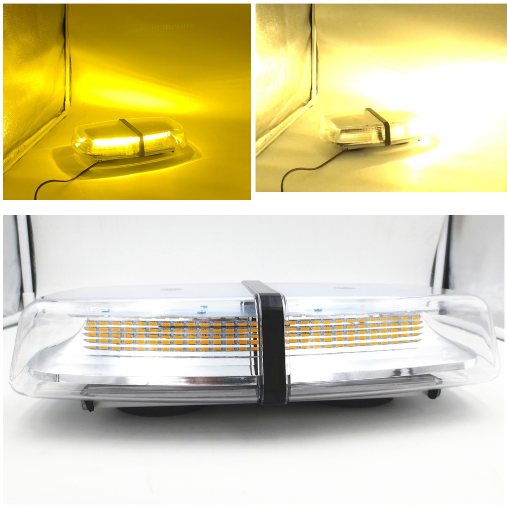 CYAN SOIL BAY 72W 72 SMD LED Car Truck Emergency Warning Roof Top Flashing Light Bar Strobe Lamp Amber DC 12V 24V cyan soil bay 240 led super blue car harzard beacon emergency magnetic strobe flash light bar top roof warning lamp