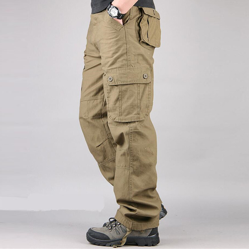 big size military cargo pants men multi 8 pockets casual