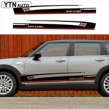 customize car modified decals racing side door styling graphic Vinyl stickers for mini