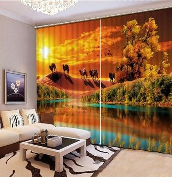 golden curtains 3D Window Curtain Dinosaur print Luxury Blackout For Living Room scenic curtain