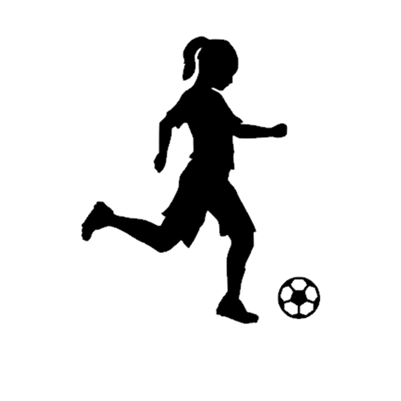 Little Girl Football Player Sticker Sports Soccer Car Decal Helmets Kids Room Name Posters Vinyl Wall Decals Football Sticker