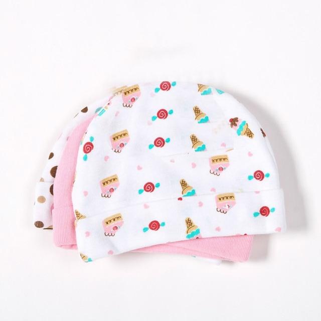 3pcs/lot Hot sale Mother Nest Baby Caps for Boys Girls, Newborn Boy Hats 3-Pack Infant Caps,0-3 months