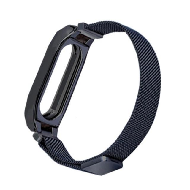 ONLENY Metal For Xiaomi Mi Band 2 Bracelet Screwless Stainless Steel Wrist Strap