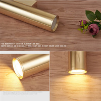 Wall Light Mirror Gold Tube Design lights Plating Aluminium Cover LED Sconce Light Hallway Coffee Shop Indoor Up and Down Light