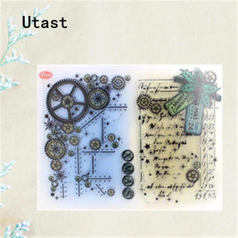 Transparent Clear Rubber Stamp Silicone Scrapbooking Album Decorative DIY Crafts