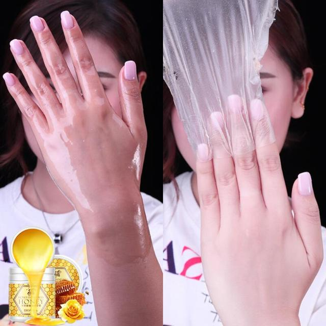 BIOAQUA Honey Hand Wax Milk Cream Paraffin Whitening Nourish Moisturizing Hydrating Remove Dead Skin Hand Care 4