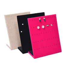 2016 New Fashion L model 20*25*8.5 CM Earrings Ear Studs Organizer Show Case Jewelry Display Holder Box Storage Display Boxes