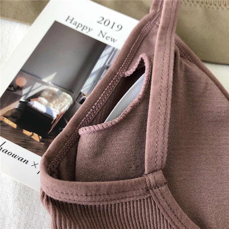 Nouveau sous-vêtement invisible couleur sauvage sexy sans anneau en acier beauté retour u-type étudiant de base fil bottoming lingerie soutien-gorge bustier tubulaire
