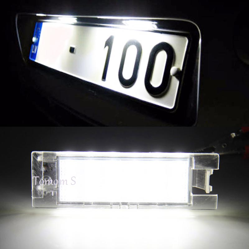 HOPSTYLING Error Free 2Pcs 18SMD LED for Fiat Grande Punto Marea Multipla Seicento LED License Plate Light Lamp Auto lighting eonstime 2pcs canbus 18smd led number license plate light lamp for hyundai i30 gd 2013 2014 2015 auto car styling
