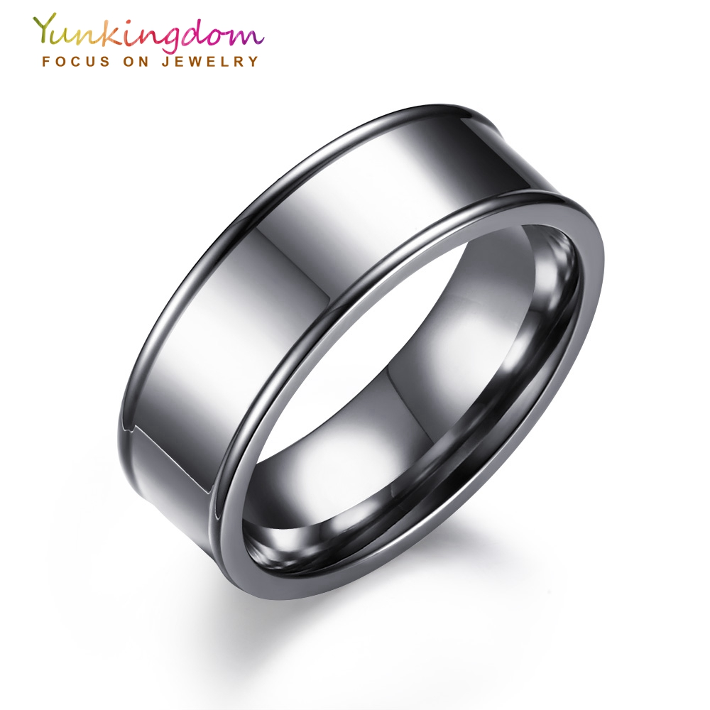 Curtain eyelet rings - Yunkingdom Stainless Steel Rings For Men And Women Jewelry Wholesale Fashion Rings Size 6 7